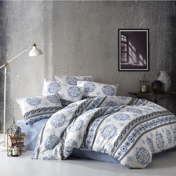 Двоен спален комплект пике Инфинити мави