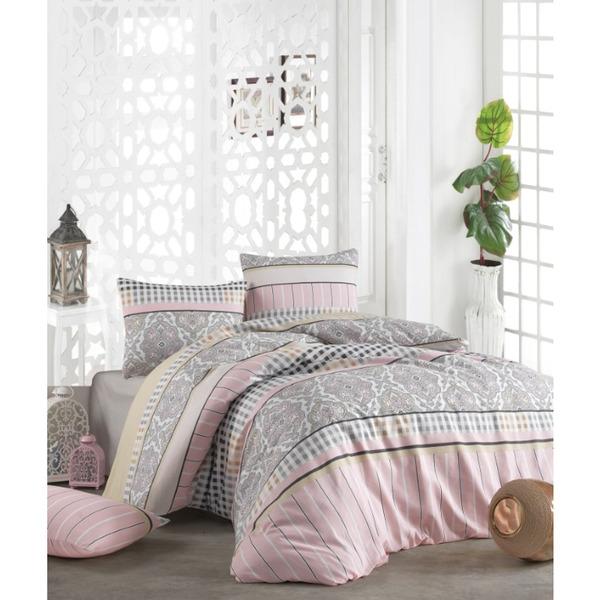 Двоен спален комплект с тънко одеяло  Арес пудра