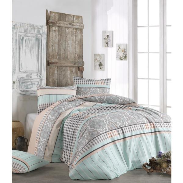 Двоен спален комплект с тънко одеяло Арес минт