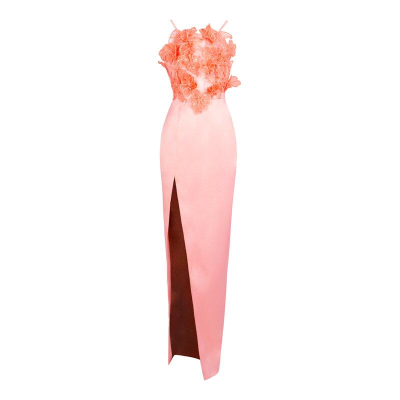LIZA KAIN Рокля Обсипана с Цветя и Пола в Преливащи Цветове