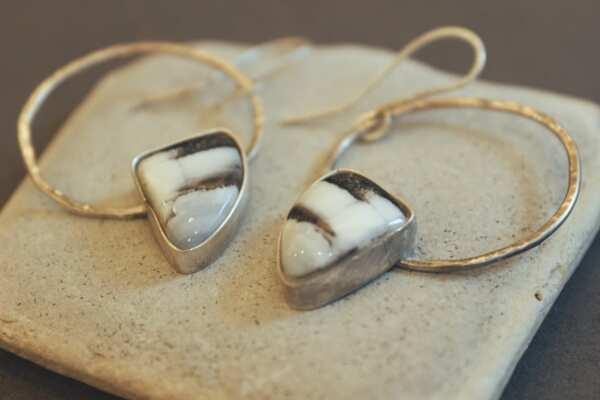 Обеци от ковано сребро от Янина Минкова