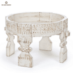 Дървена маса CHAKKI в бяло