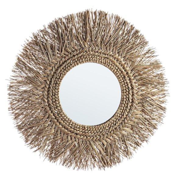 Огледало с бамбукова рамка I естествен цвят