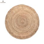 Кръгъл килим от юта в естествен цвят ø200