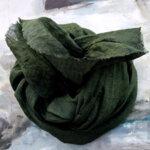 Ленен шал LS / тъмно зелен