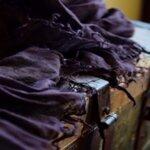 Ленен шал LS / тъмно лилав