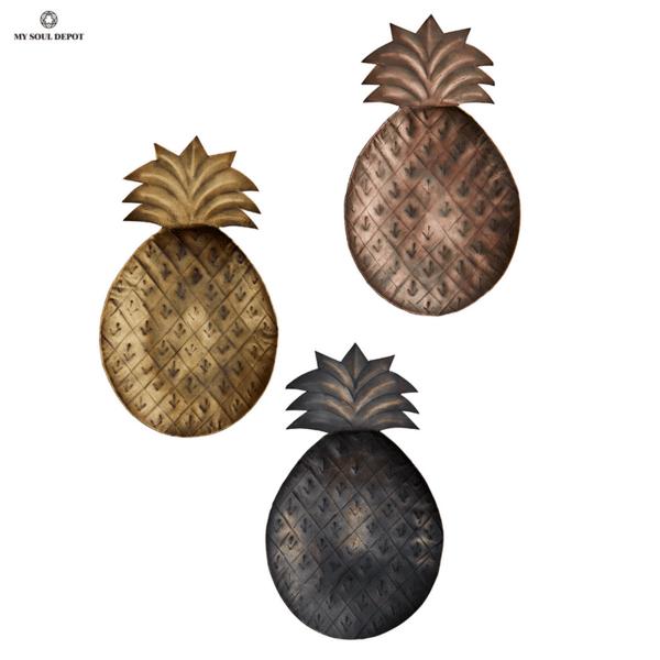 Метален поднос ананас