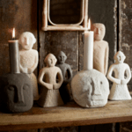 Поставка за свещ Simba черна