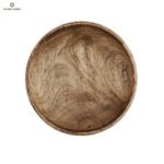 Дълбок дървен поднос