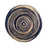 Кръгъл килим от юта в рае индиго