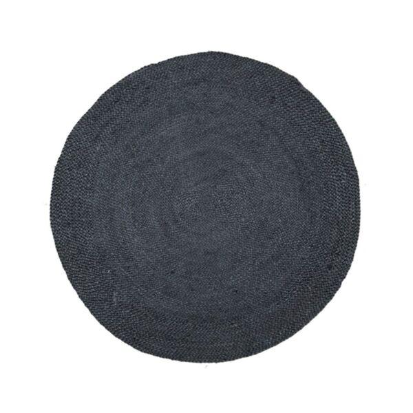Кръгъл килим от юта в черно ø150