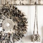 Декоративен пискюл от раковини - естествен цвят