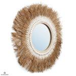 Огледало с ресни от рафия
