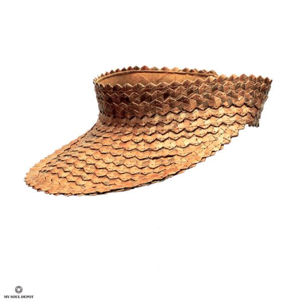Лятна шапка с козирка - естествен цвят