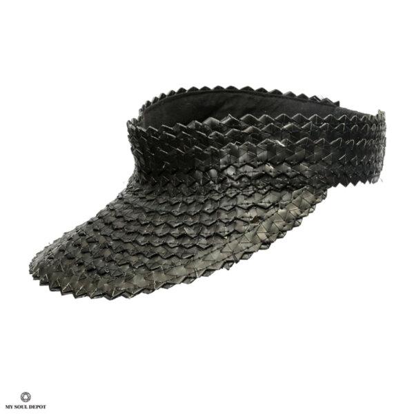 Лятна шапка с козирка - черен цвят