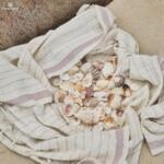 Ленена плажна кърпа / цвят лавандула