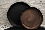 Метален поднос с матиран меден цвят
