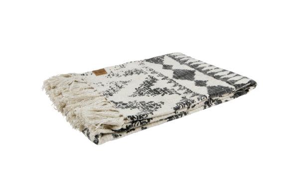 Одеяло със сив принт