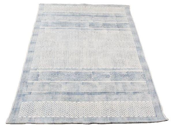 Ленен килим Blue Graphic