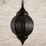 Висящ фенер Orient в черно и мед L