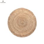 Кръгъл килим от юта в естествен цвят 120