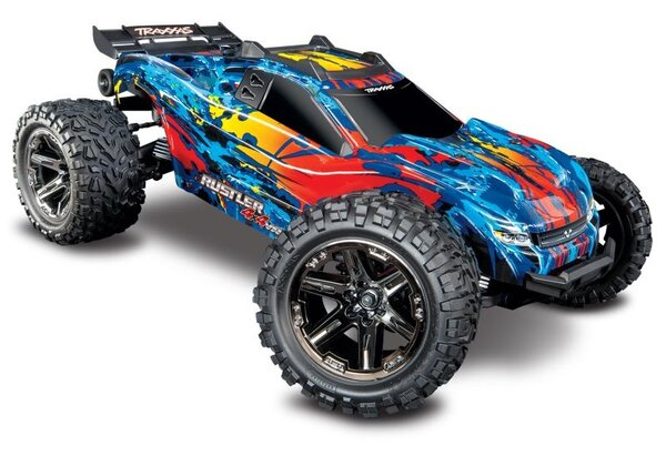 Traxxas Rustler 4X4 VXL TQi TSM (no battery/charger), Red TRX67076-4RED