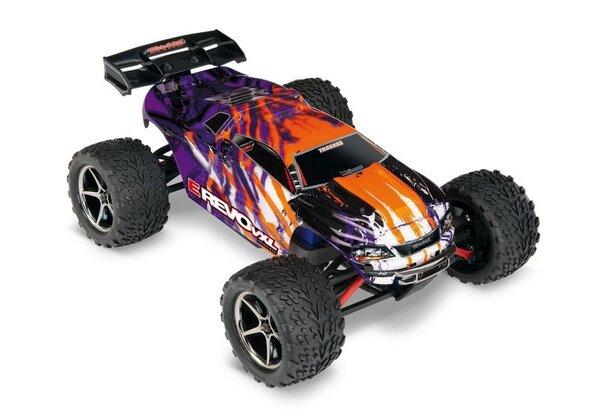 Traxxas E-Revo VXL 1/16 4x4 Brushless TQi TSM (incl battery/charger) Purple TRX71076-3PRPL
