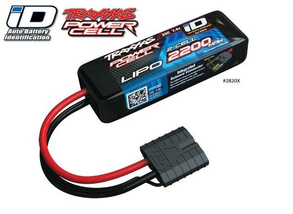 Power Cell LiPo 2200mAh 7.4V 2S 25C , all 1/16 models ID, TRX2820X
