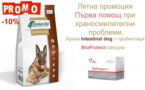 ПРОМО ЦЕНА! При проблеми с храносмилането INTESTINAL DOG + BIOPROTECT
