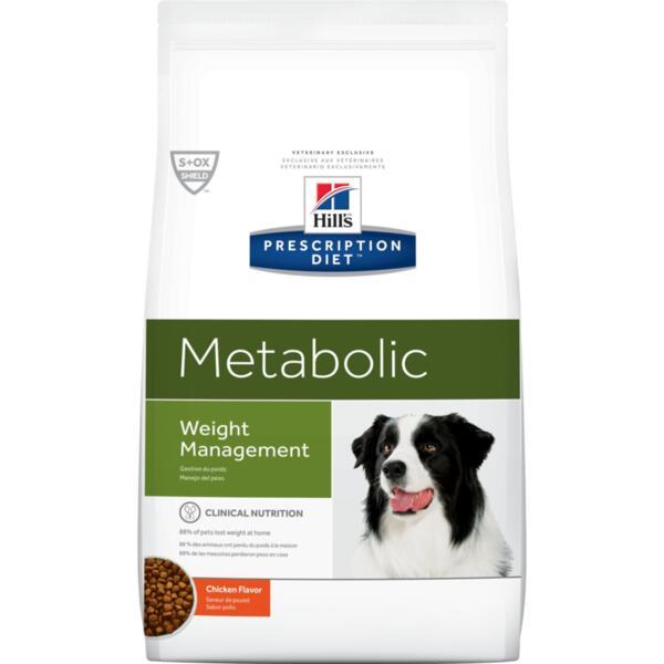 Hill's Prescription Diet Metabolic - ново поколение диета за кучета с наднормено тегло (12 кг / 4кг)
