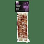 Prima Dog White Roll With duck - Лакомство за кучета от обработена сурова кожа с патешко месо за здрави зъби и венци - 25 см, 2 бр.