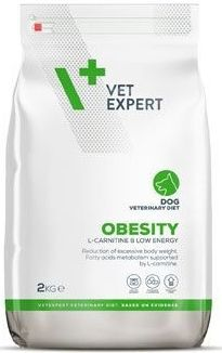 Vet Expert 4T Obesity Dog - Диета за кучета с наднормено тегло,диабет,колит и след кастрация (0.300кг/2кг/12кг)