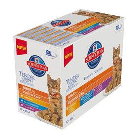 Hills Science Plan™ Feline Adult Favorite Selection - Колекция от паучове, малки късчета в сос Грейви, за котки над 1 година (12x85 гр.)