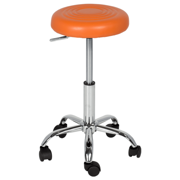 Табуретка с колелца Carmen 3075 - оранжев