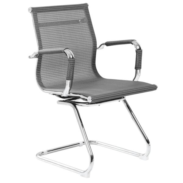 Посетителски стол Carmen 8802 - сив