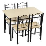 Комплект маса с 4 стола Carmen 20009 - клен