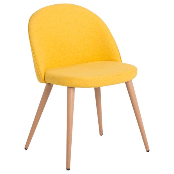 Трапезен стол Carmen 514 -ярко жълт MB