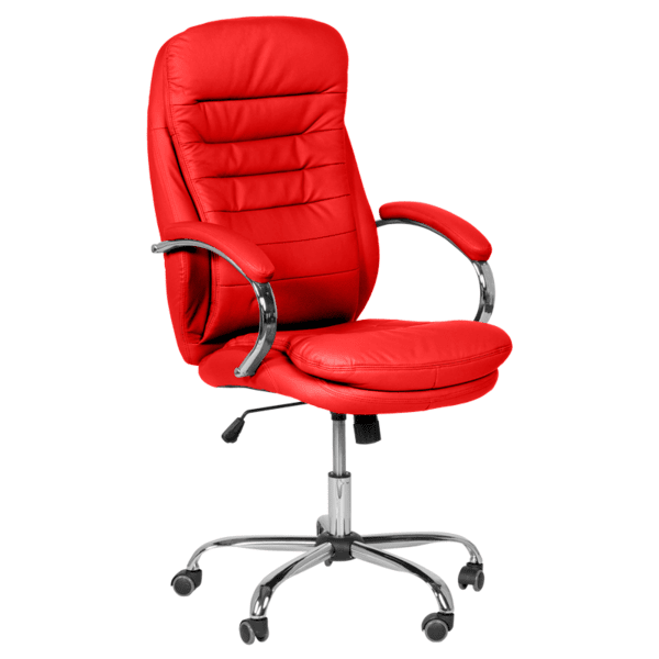 Президентски офис стол Carmen 6113 - червен