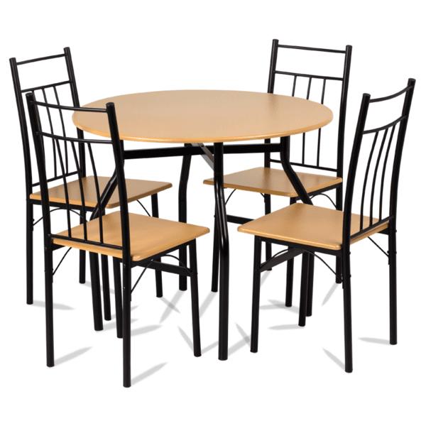 Комплект маса с 4 стола Carmen 20010 - бук