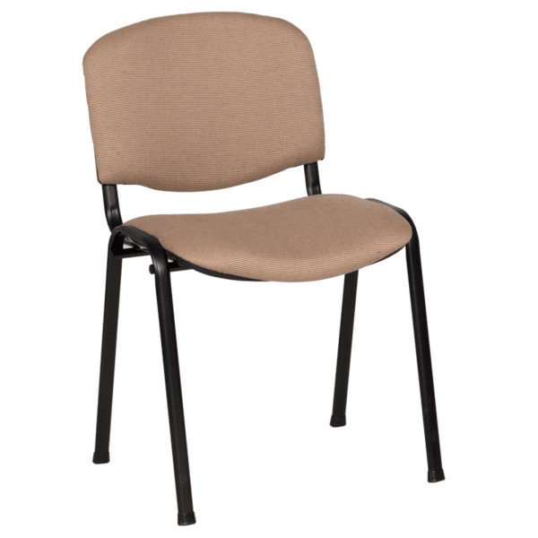 Посетителски стол Carmen 1130 LUX - бежово-черен