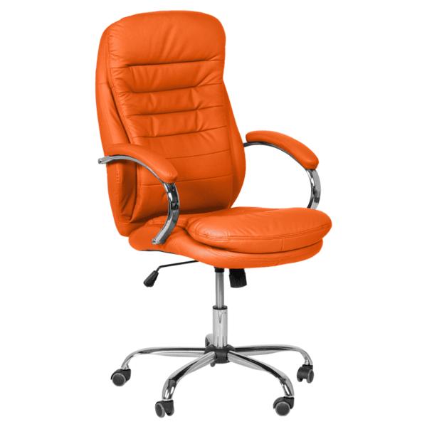 Президентски офис стол Carmen 6113 - оранжев