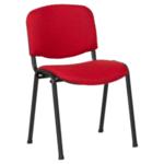 Посетителски стол Carmen 1130 LUX - червено-черен