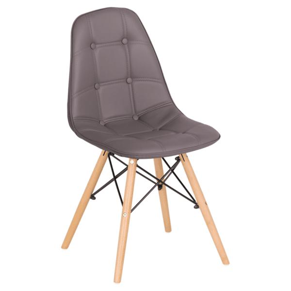 Трапезен стол Carmen 9962 - сив