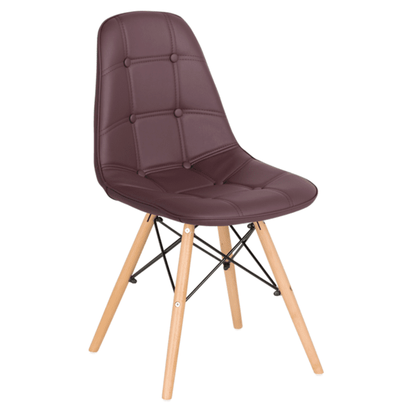 Трапезен стол Carmen 9962 - тъмно кафяв