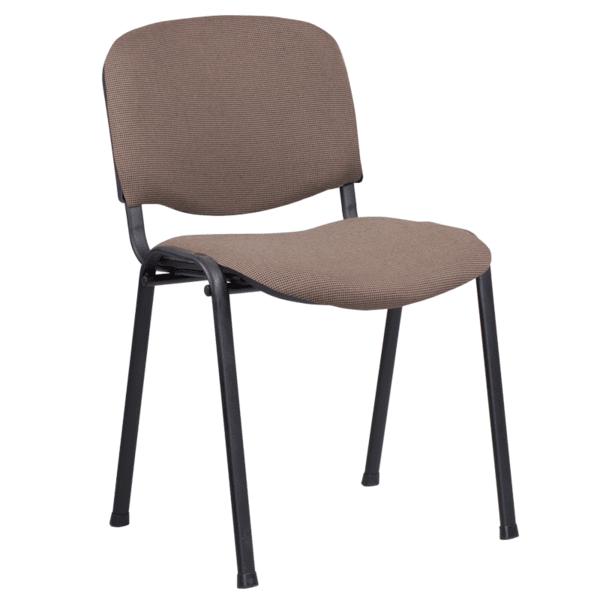 Посетителски стол Carmen 1130 LUX - кафяво-черен