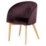 Трапезен стол Carmen 522 - тъмно кафяв