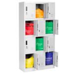 Метален шкаф Carmen CR-1258 J - сив