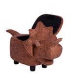 Детска табуретка с ракла - кафяв динозавър