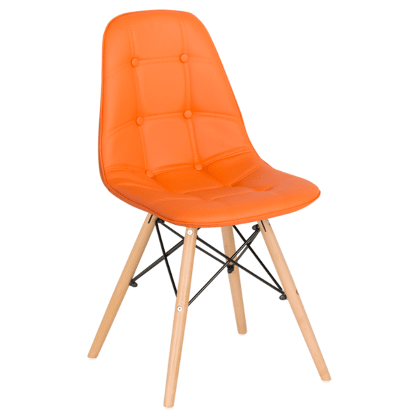 Трапезен стол Carmen 9962 - оранжев