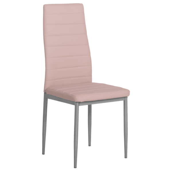Трапезен стол Carmen 310 - бледо розов